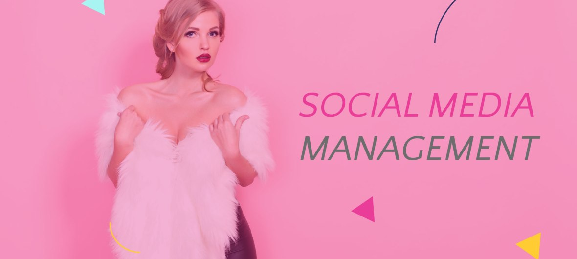 Social Media Management with glam woman
